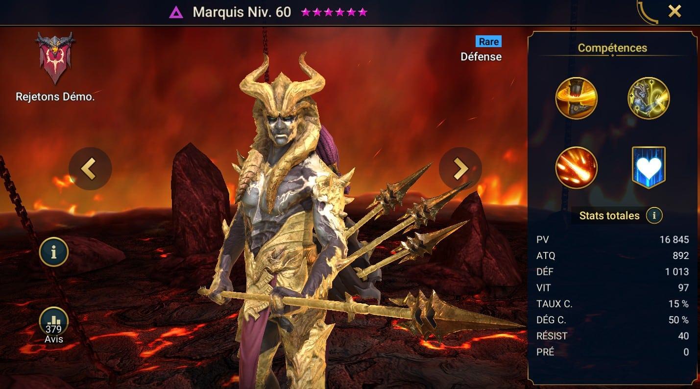 Guide maîtrises et artefact sur Marquis