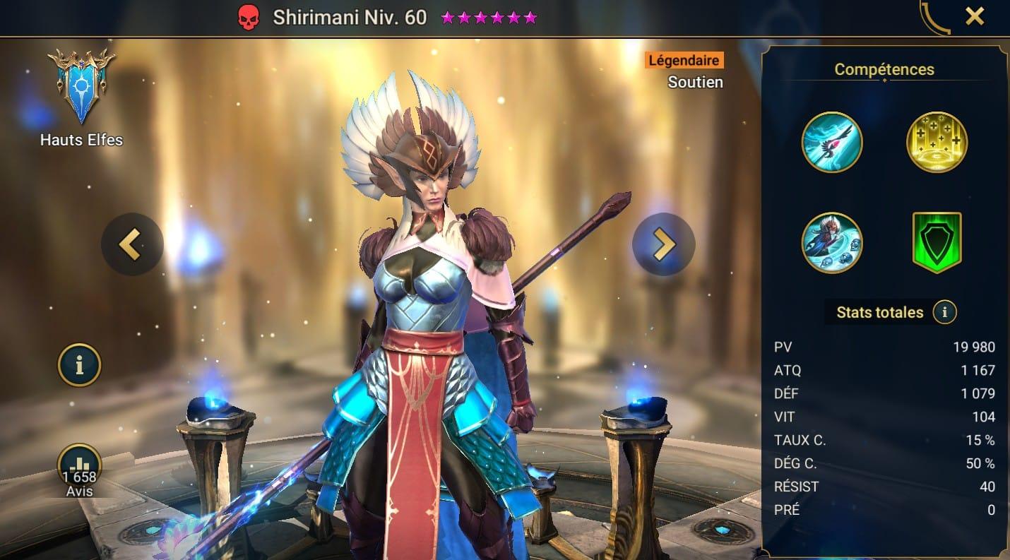 Guide maîtrises et artefact sur Shirimani
