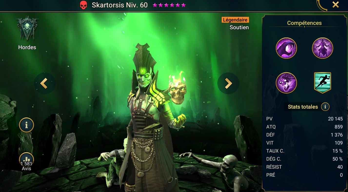 Guide maîtrises et artefact sur Skartorsis