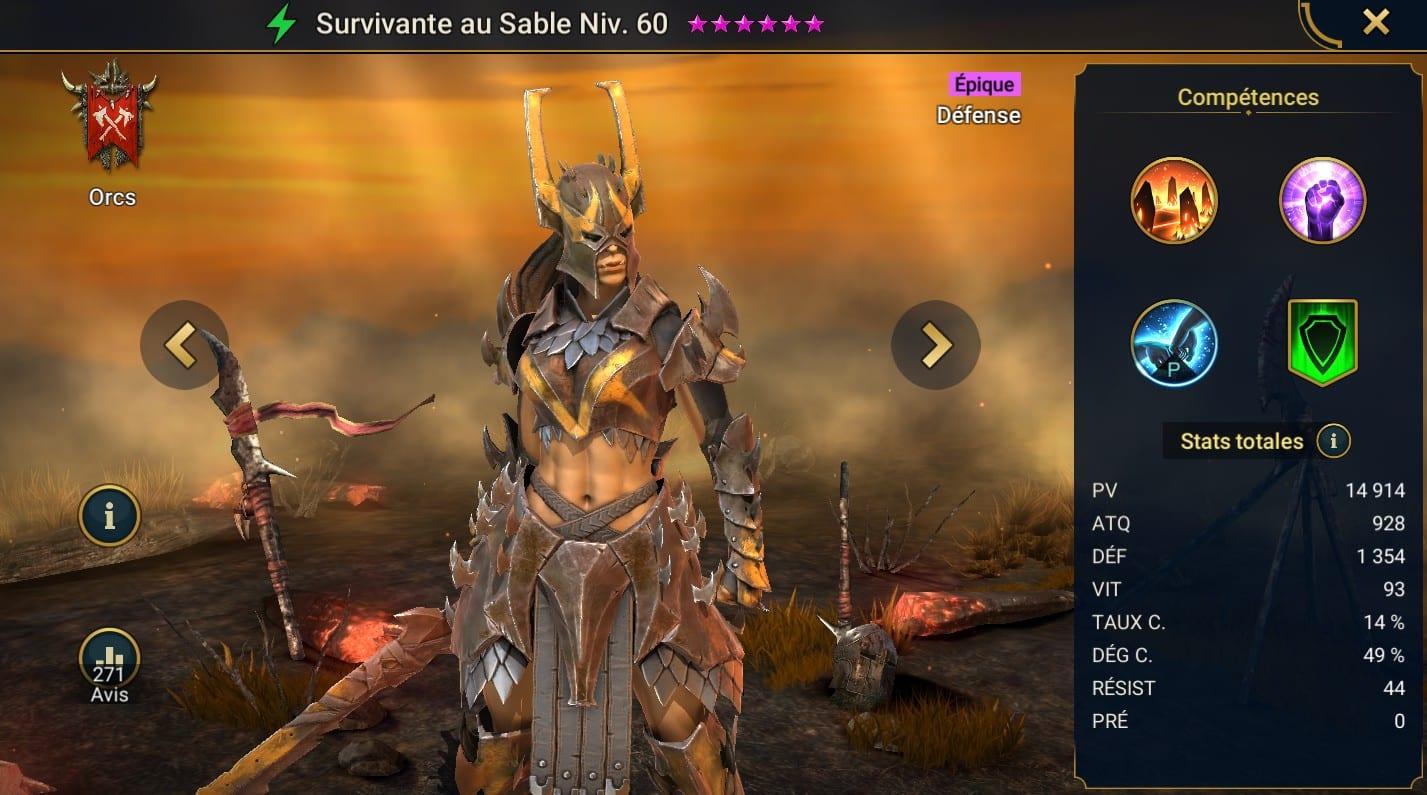 Guide maîtrises et artefact sur Survivante au Sable