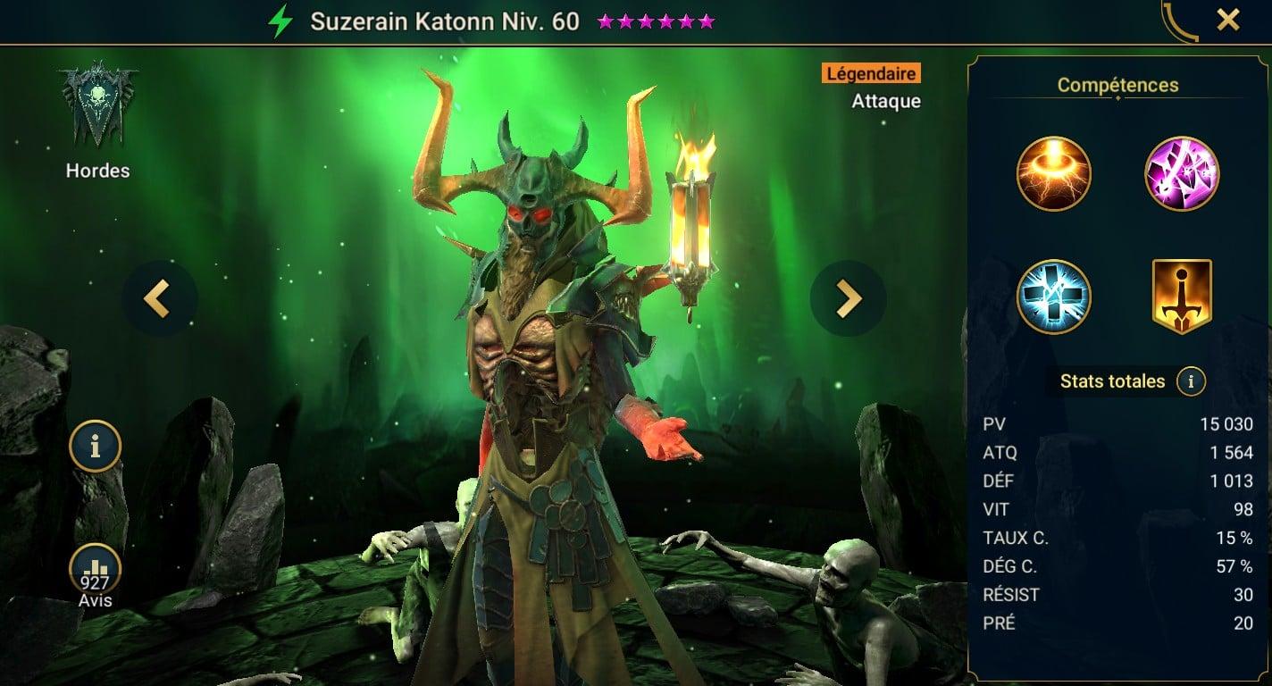 Guide maîtrises et artefact sur Suzerain Katonn