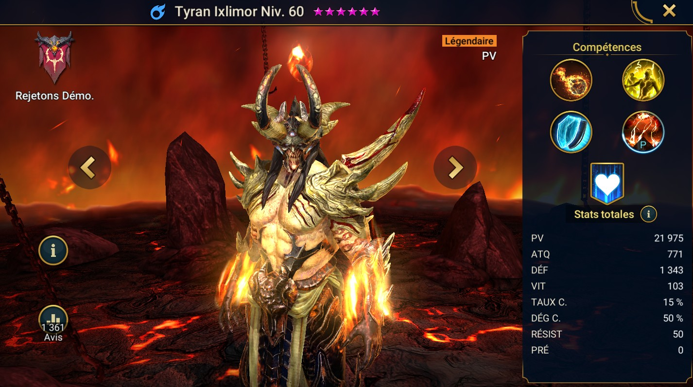 Guide maîtrises et artefact sur Tyran Ixlimor