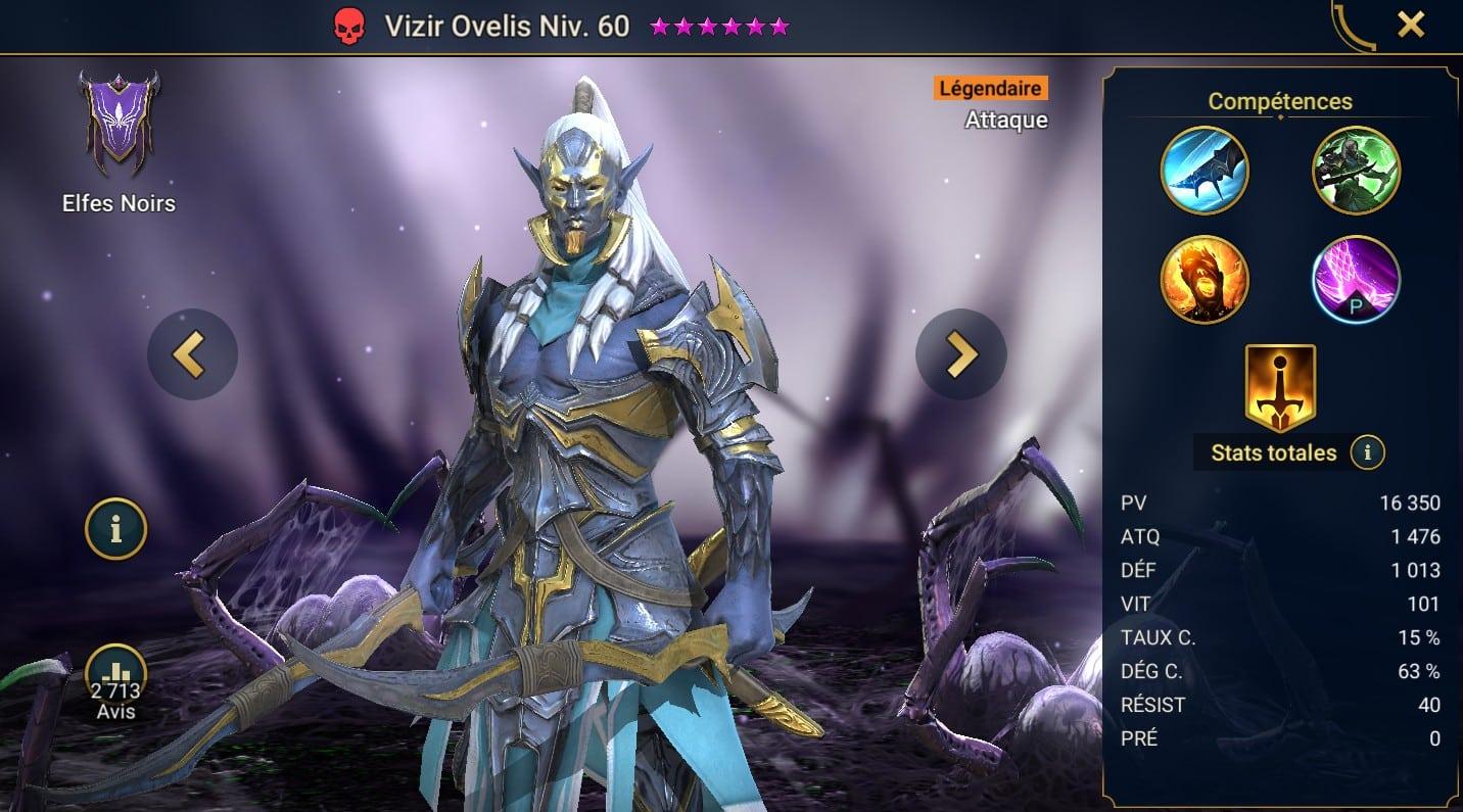 Guide maîtrises et artefact sur Vizir Ovelis