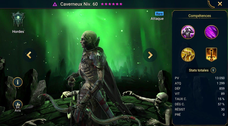 Guide maîtrises et artefact sur Caverneux