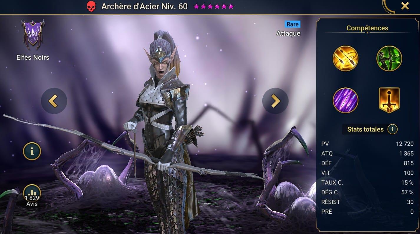 Guide maîtrises et artefact sur Archere d'Acier