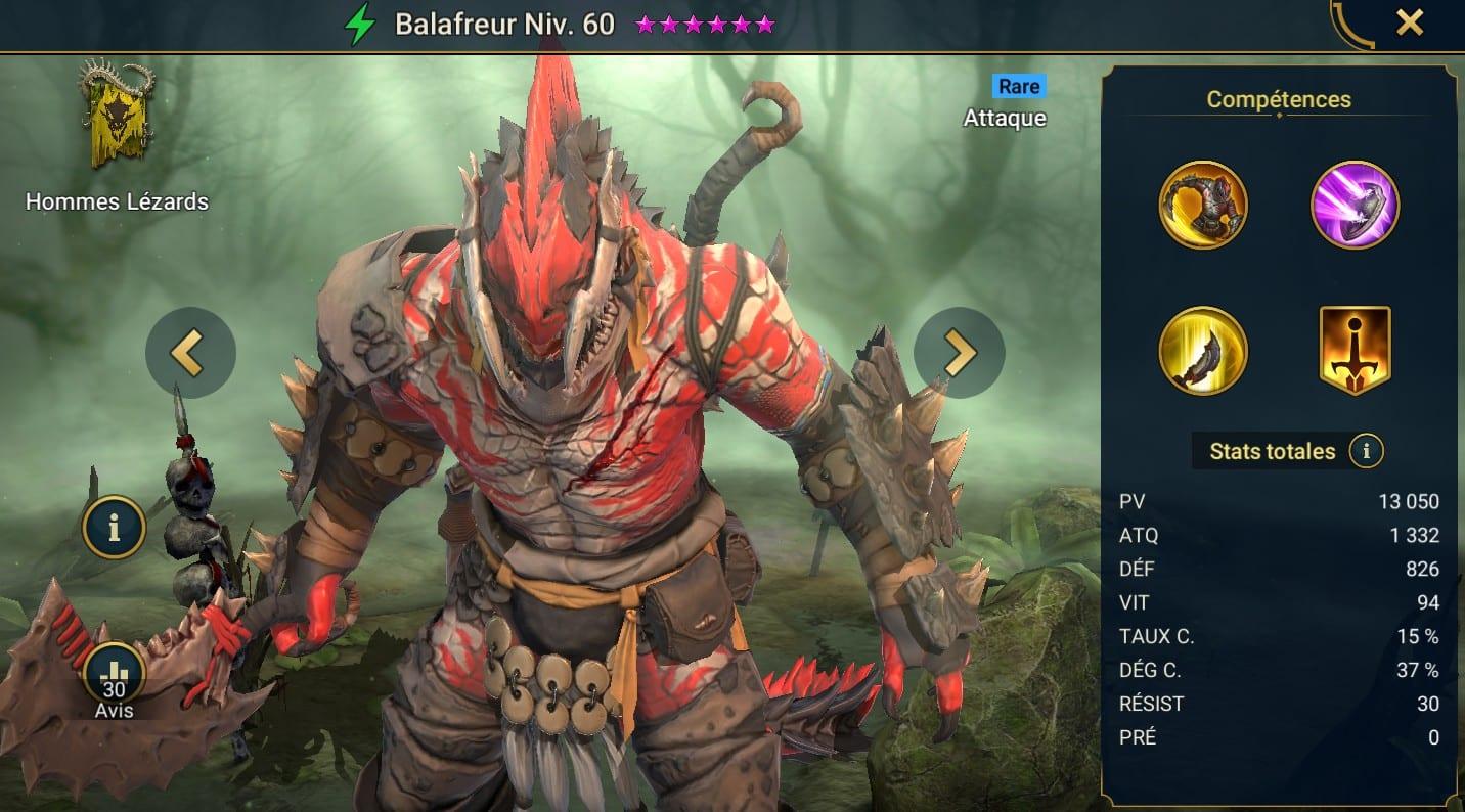 Guide maîtrises et artefact sur Balafreur