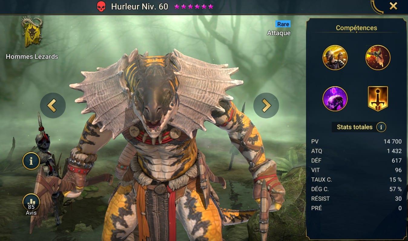 Guide maîtrises et artefact sur Hurleur