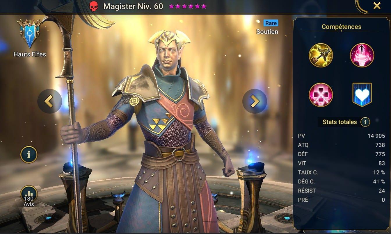 Guide maîtrises et artefact sur Magister