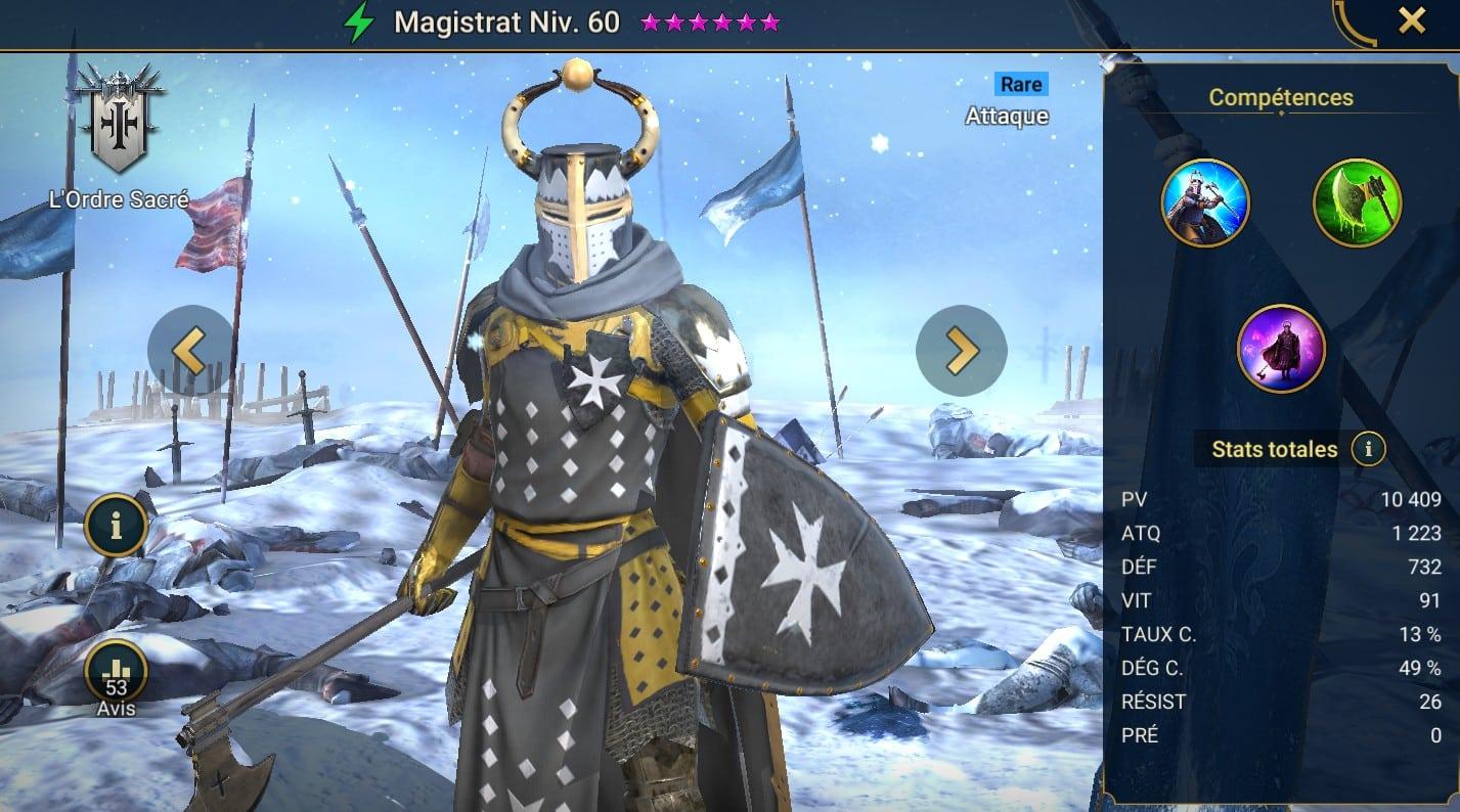 Guide maîtrises et artefact sur Magistrat
