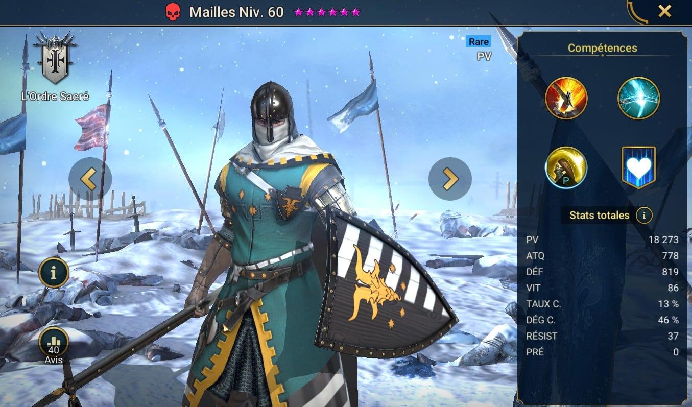 Guide maîtrises et artefact sur Mailles