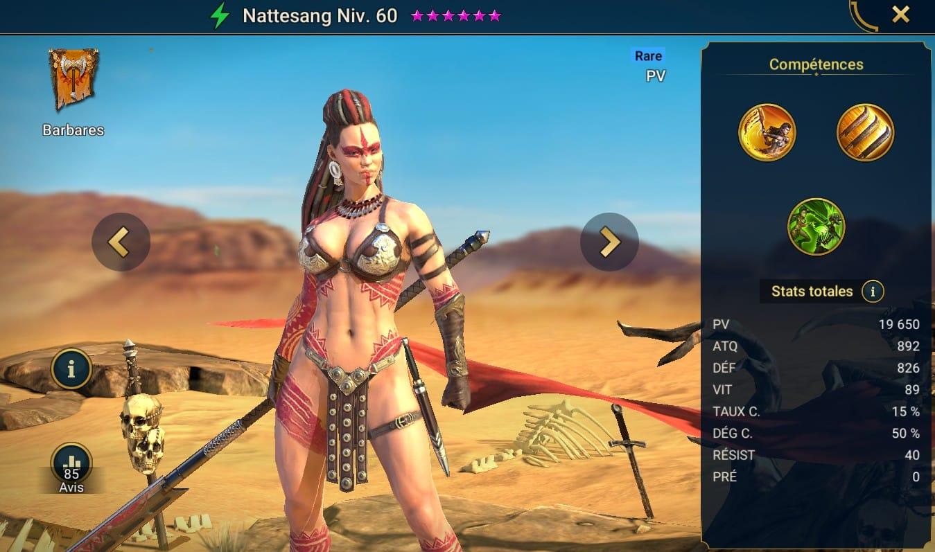 Guide maîtrises et artefact sur Nattesang