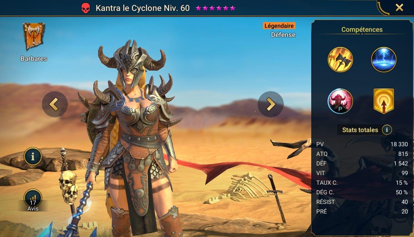 Guide maîtrises et artefact sur Kantra le Cyclone