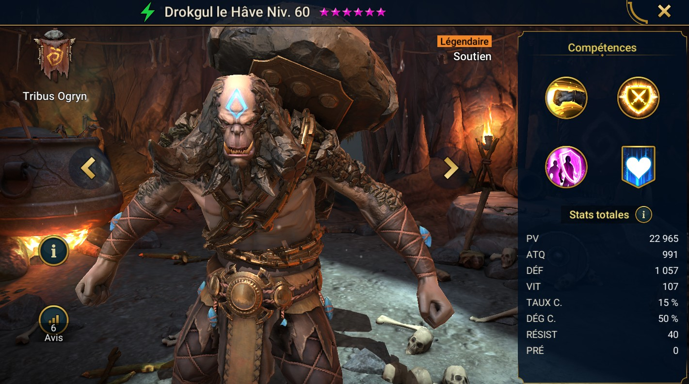 Guide maîtrises et artefact sur Drokgul le Hâve