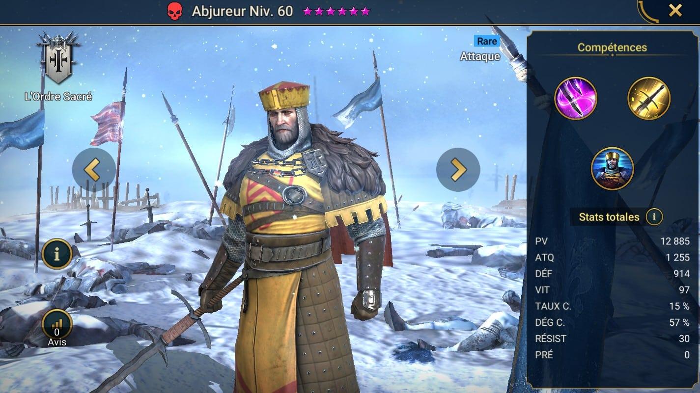 Guide maîtrises et artefact sur Abjureur