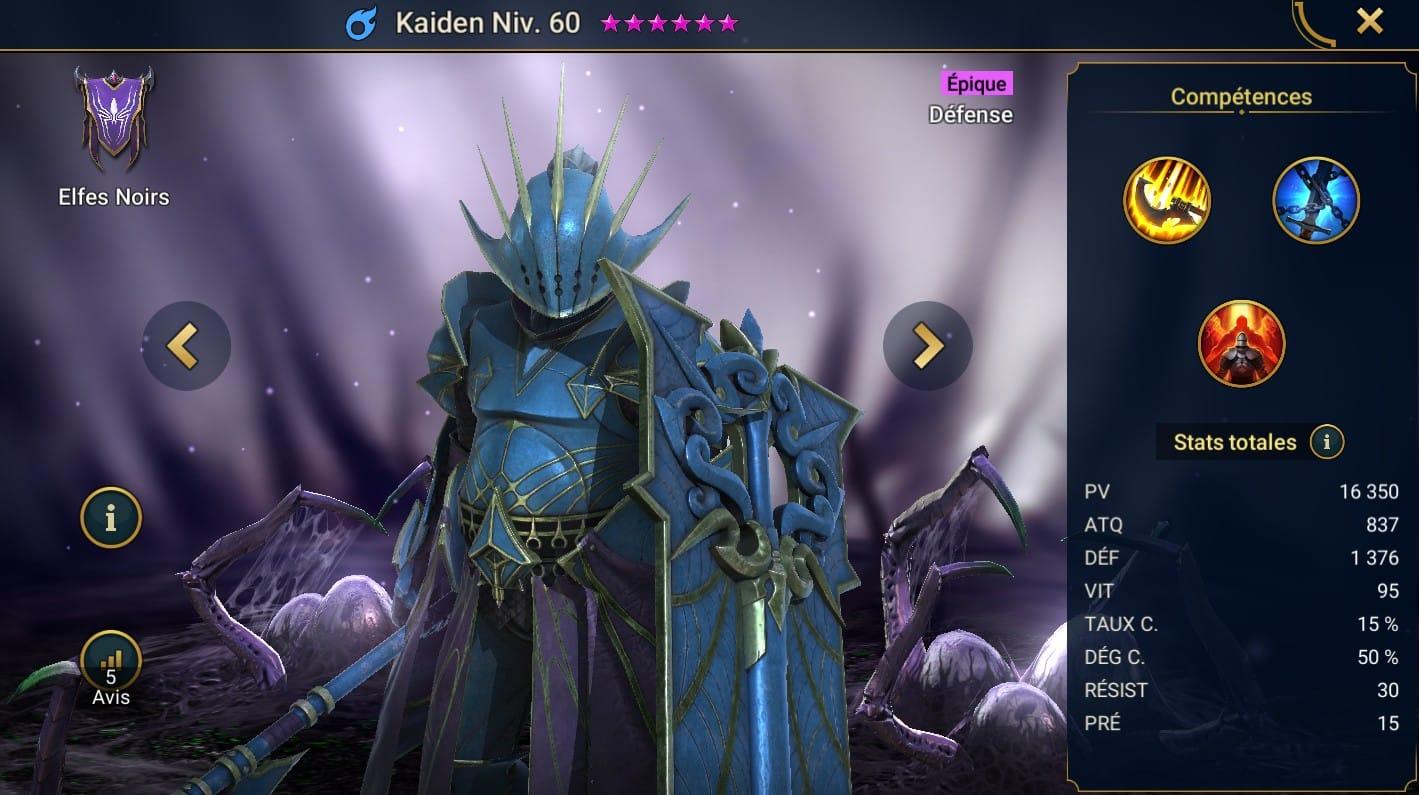 Guide maîtrises et artefact sur Kaiden