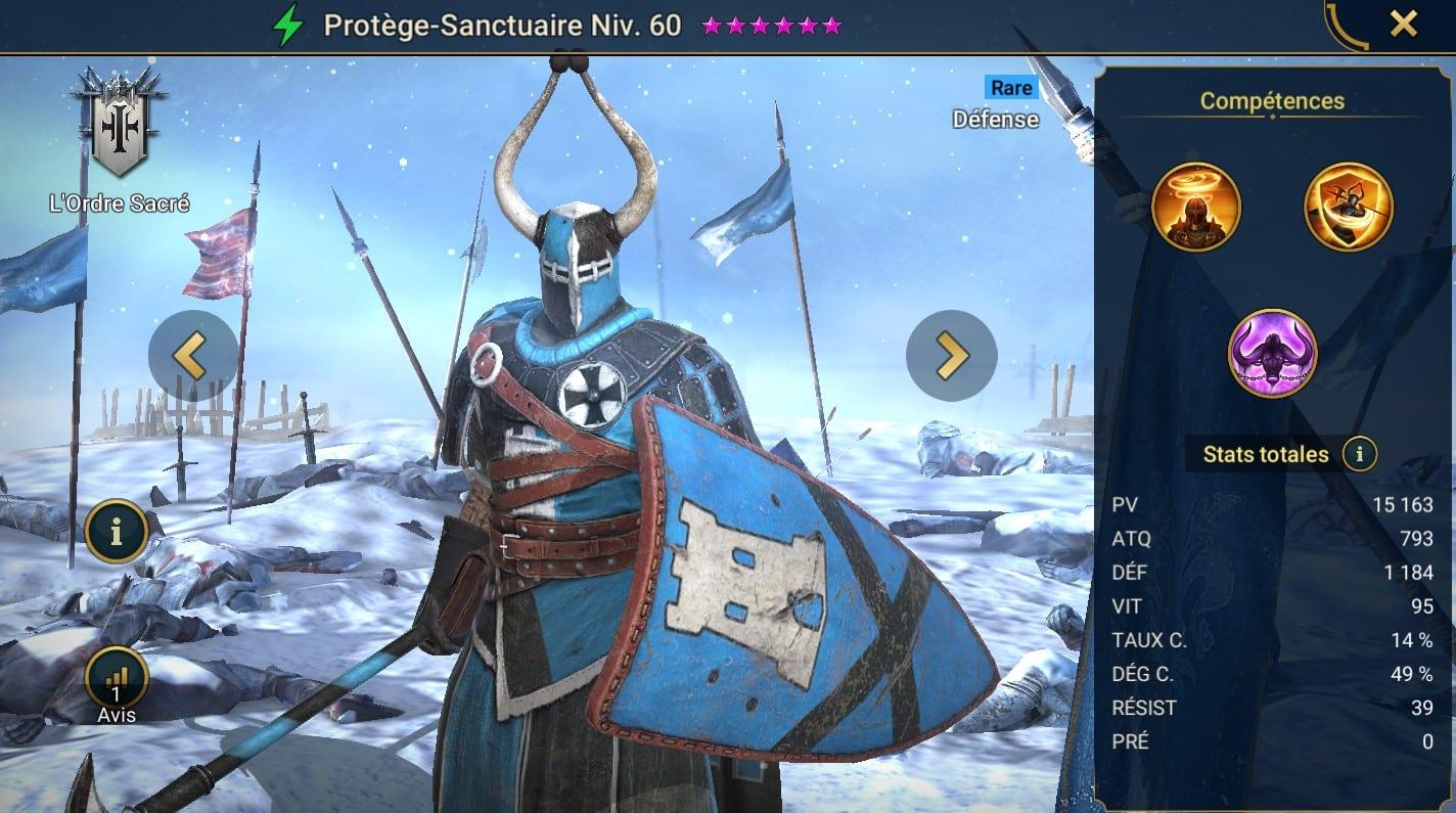 Guide maîtrises et artefact sur Protège-sanctuaire