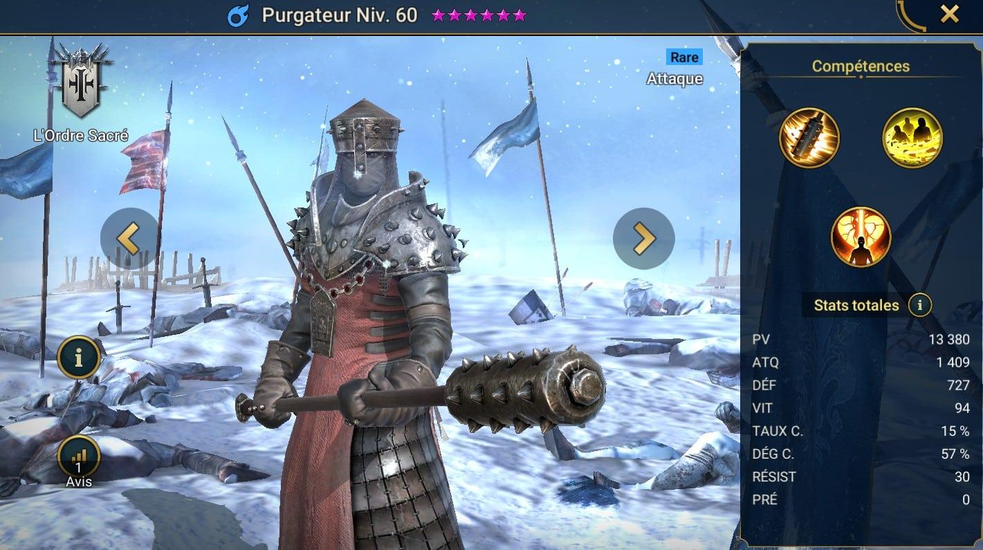 Guide maîtrises et artefact sur Purgateur