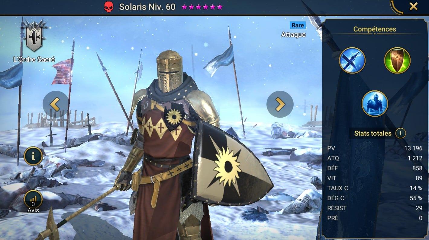 Guide maîtrises et artefact sur Solaris
