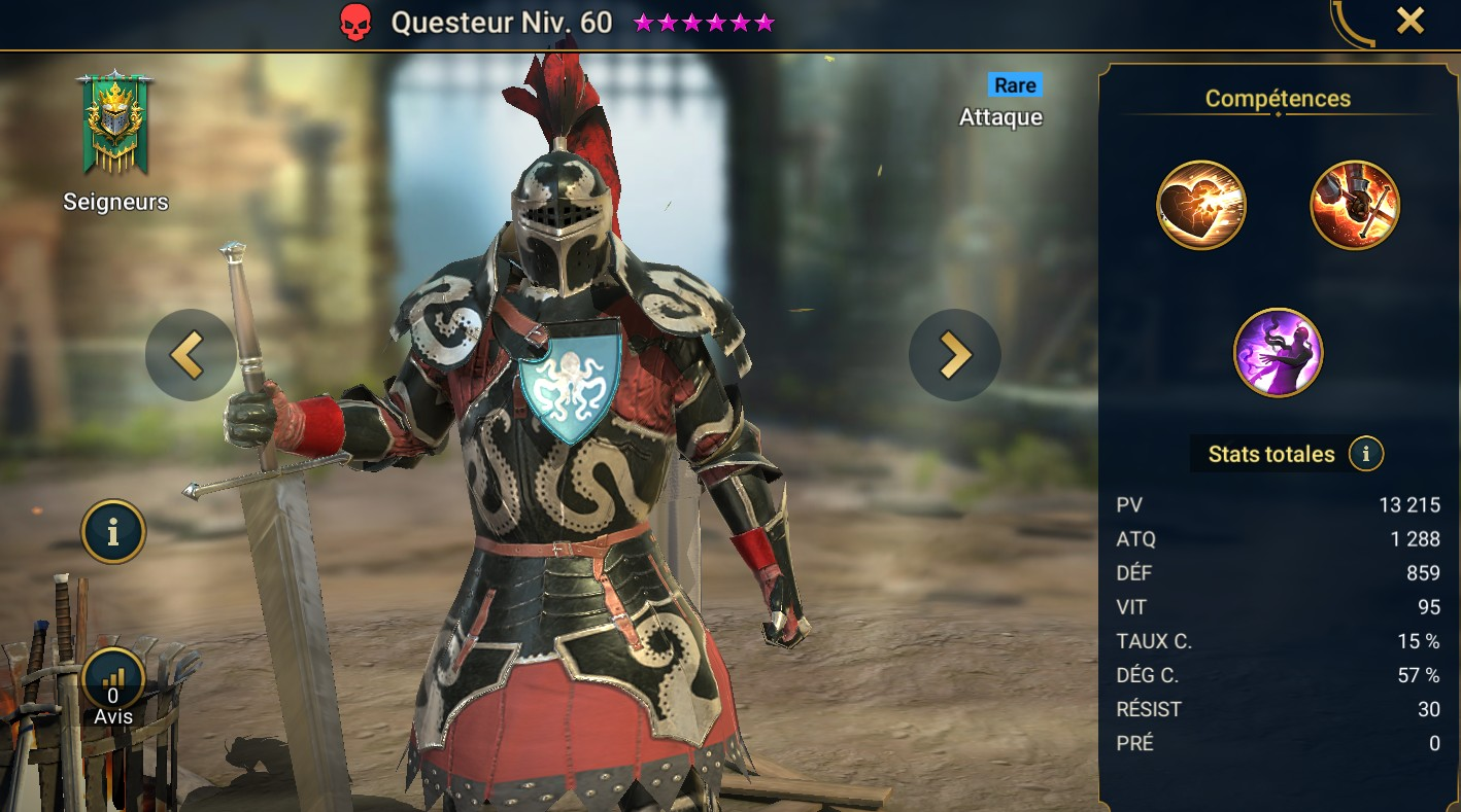 Guide maîtrises et artefact sur Questeur