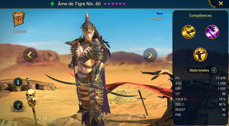 Guide maîtrises et artefact sur Âme de Tigre
