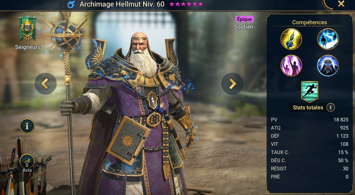 Guide maîtrises et artefact sur Archimage Hellmut