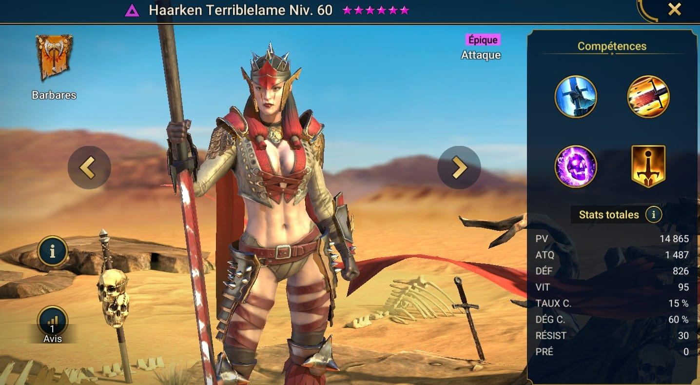 Guide maîtrises et artefact sur Haarken Terriblelame