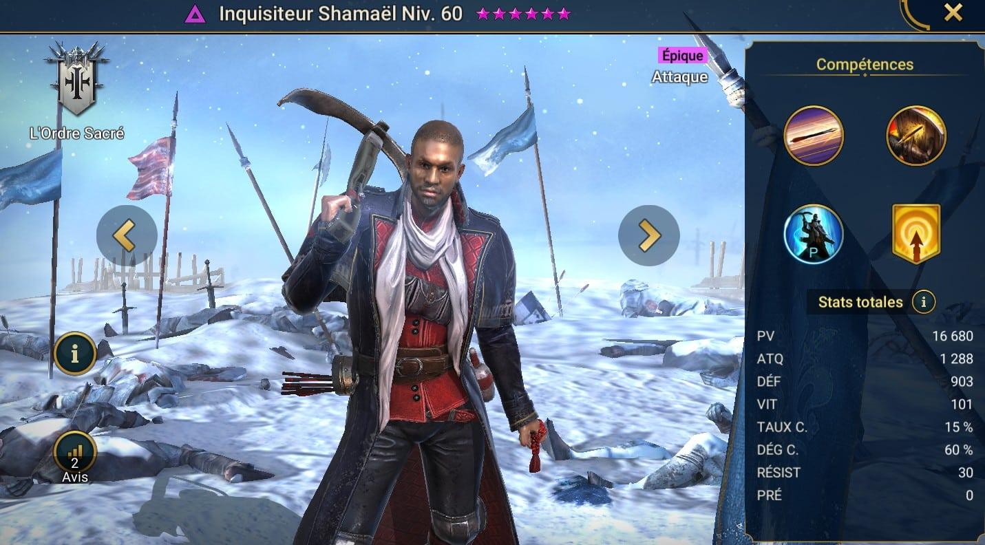 Guide maîtrises et artefact sur Inquisiteur Shamaêl