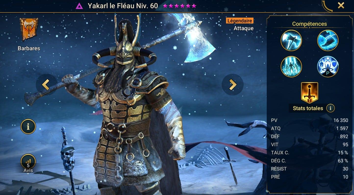 Guide maîtrises et artefact sur Yakarl le Fléau