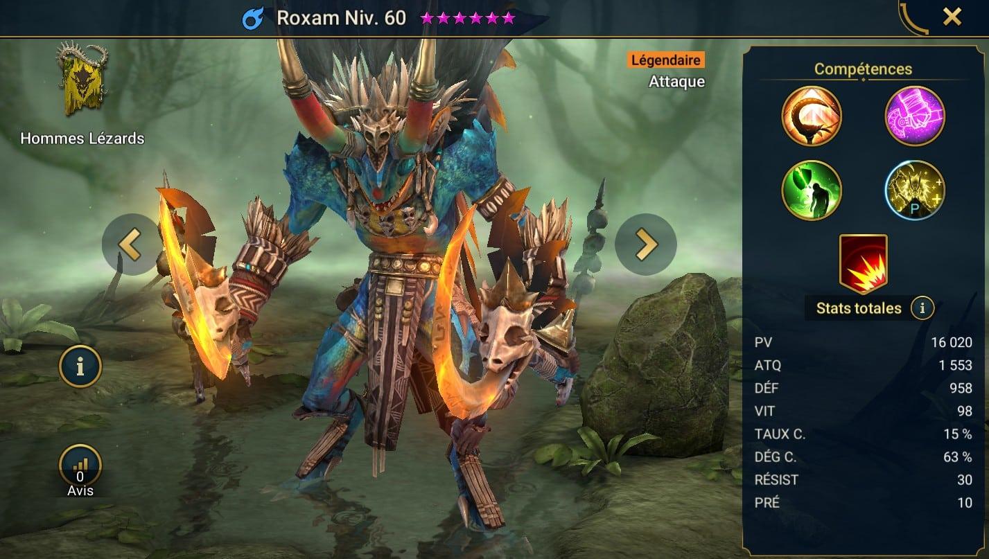 Guide maîtrises et artefact sur Roxam