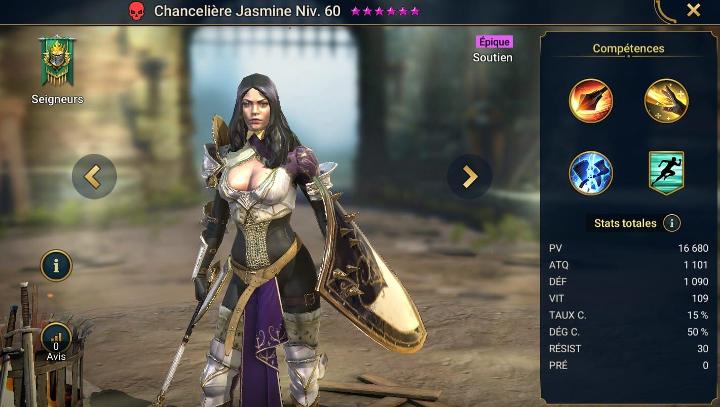 Guide maîtrises et artefact sur Chancelière Jasmine