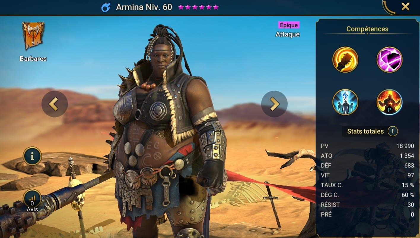 Guide maîtrises et artefact sur Armina