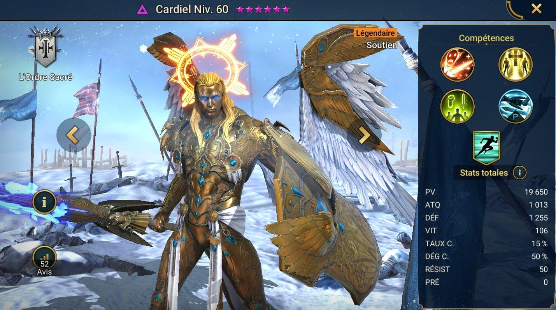 Guide maîtrises et artefact sur Cardiel