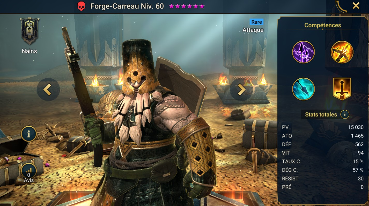 Guide maîtrises et artefact sur Forge-Carreau