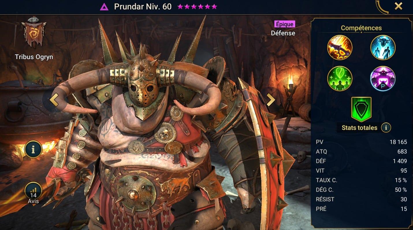Guide maîtrises et artefact sur Prundar