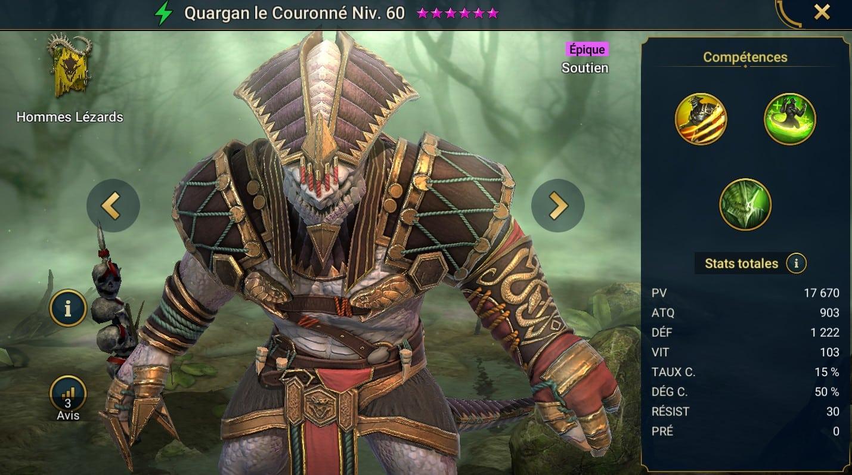 Guide maîtrises et artefact sur Quargan le Couronné