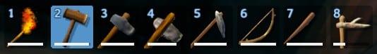 marteau en position 2