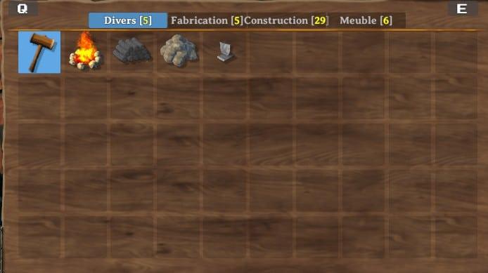 menu de construction