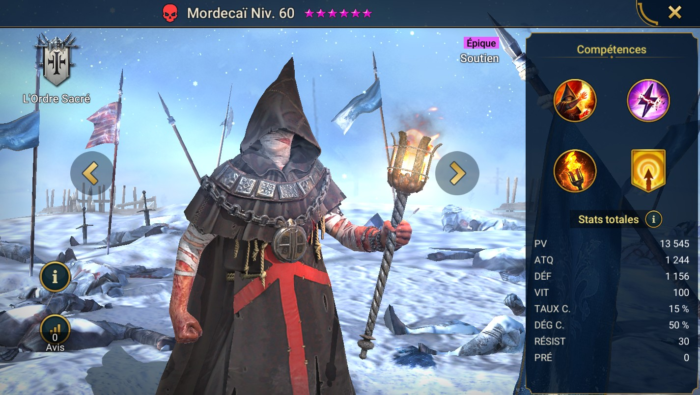 Guide maîtrises et artefact sur Mordecaï