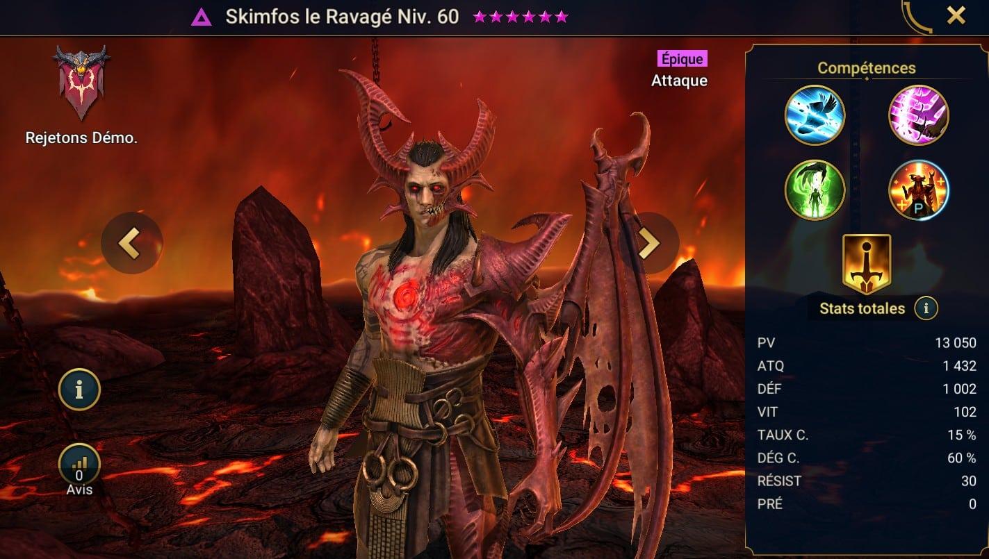 Guide maîtrises et artefact sur Skimfos le Ravagé