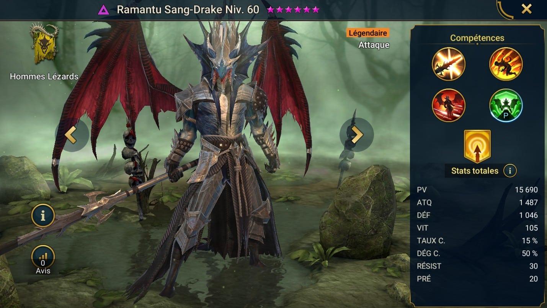 Guide maîtrises et artefact sur Ramantu Sang-Drake