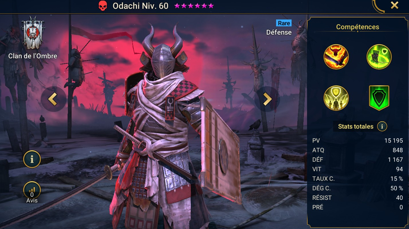 Guide maîtrises et artefact sur Odachi