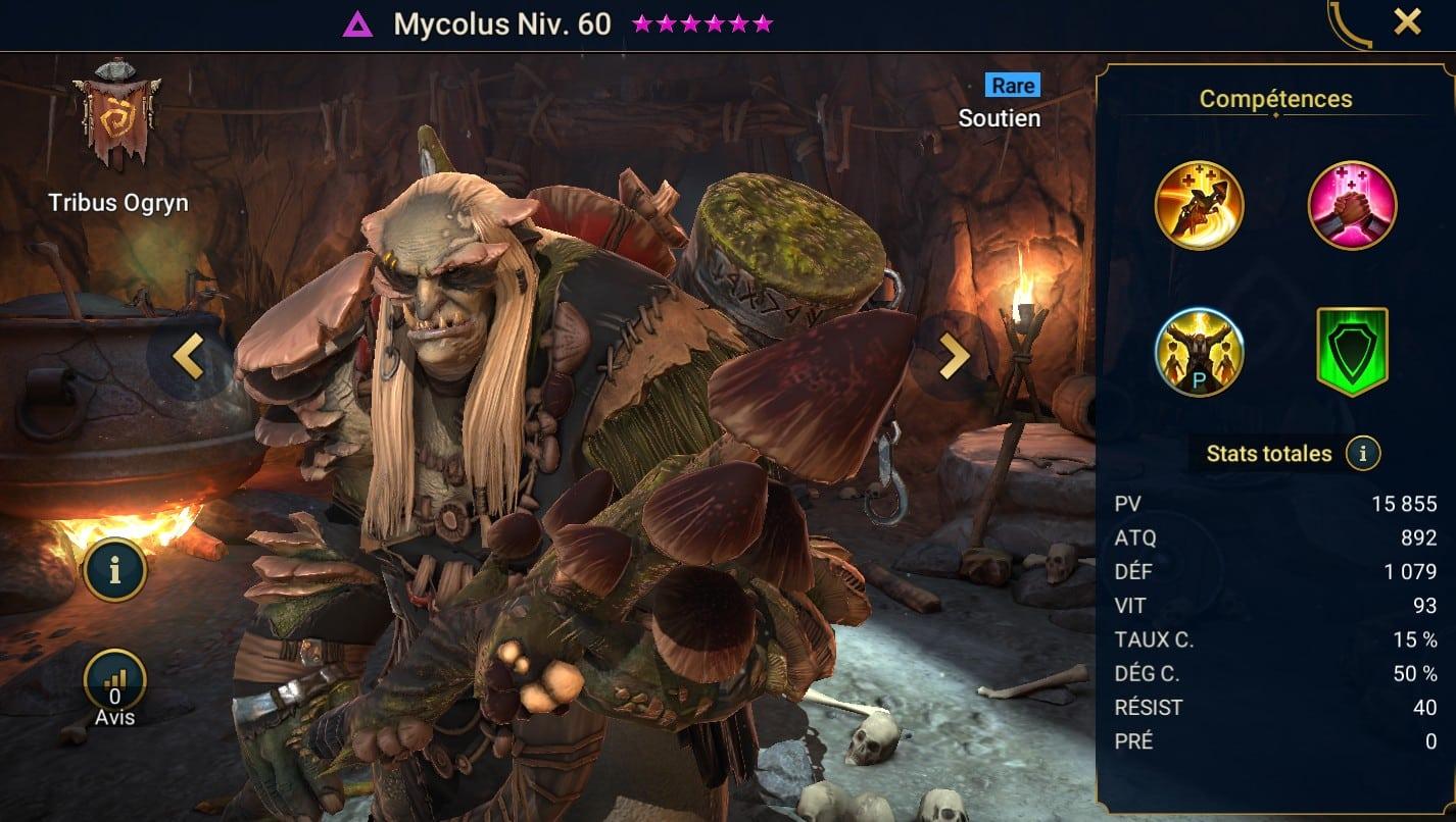 Guide maîtrises et artefact sur Mycolus