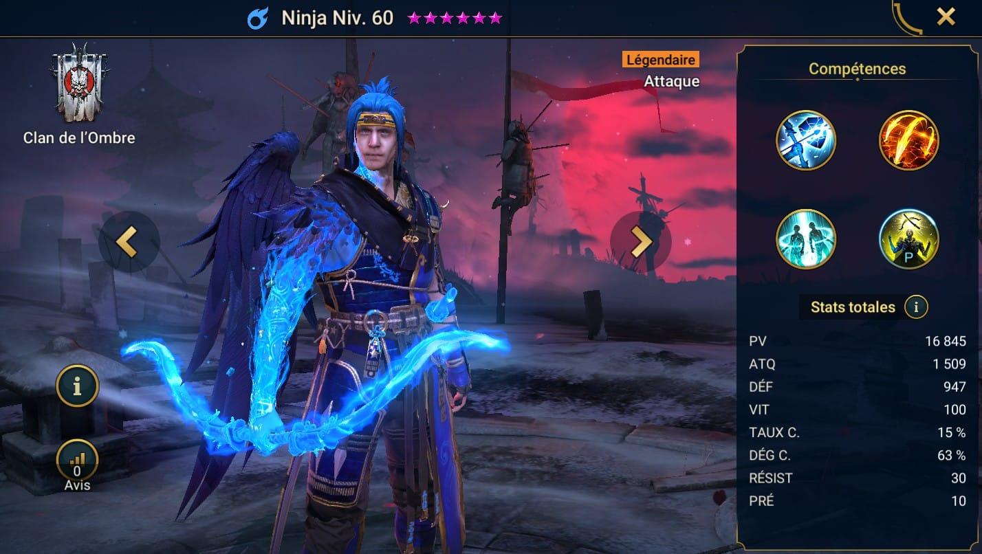Guide maîtrises et artefact sur Ninja