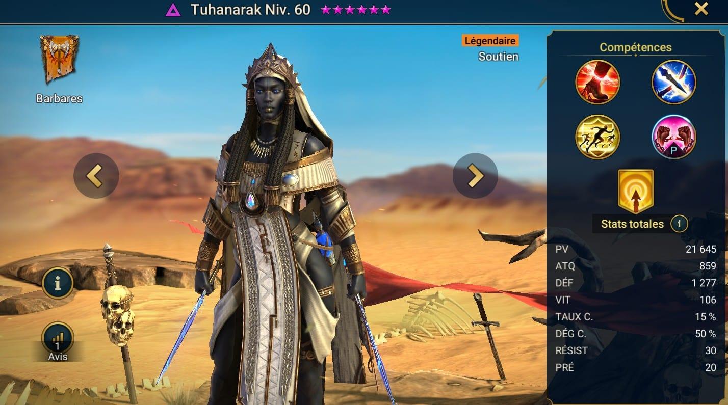 Guide maîtrises et artefact sur Tuhanarak