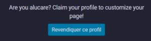 Revendiquer Profil