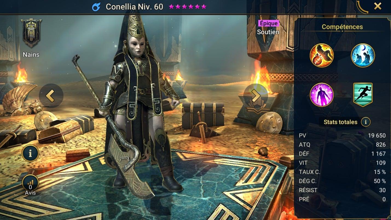 Guide maîtrises et artefact sur Conellia