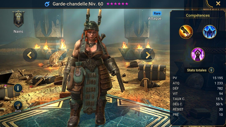 Guide maîtrises et artefact sur Garde-Chandelle