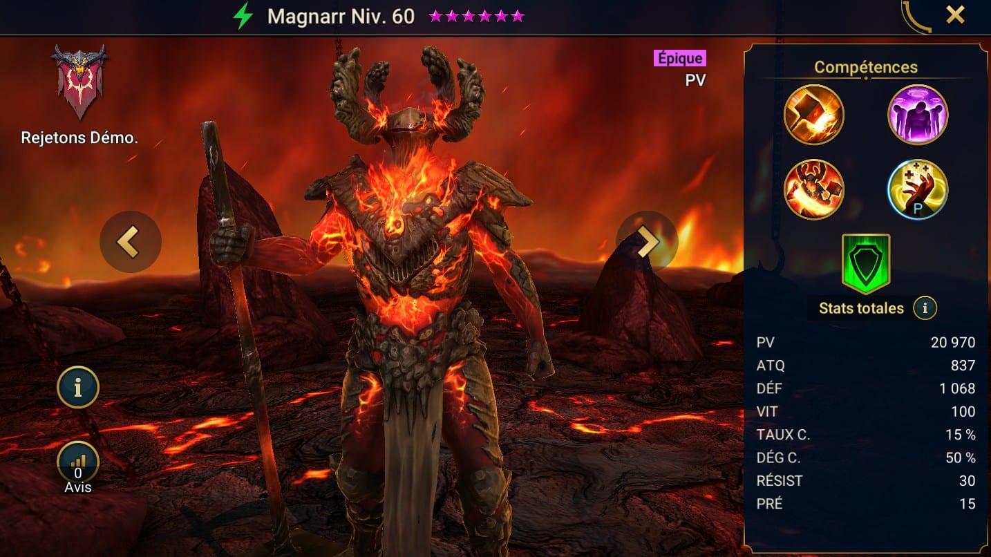 Guide maîtrises et artefact sur Magnarr