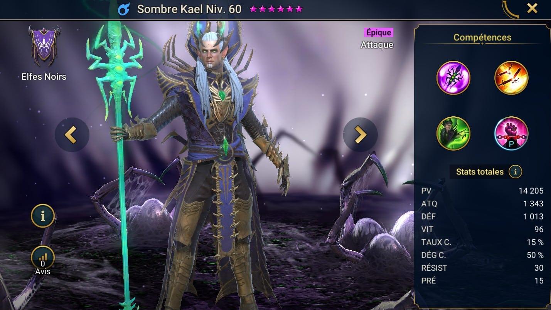 Guide maîtrises et artefact sur Sombre Kael