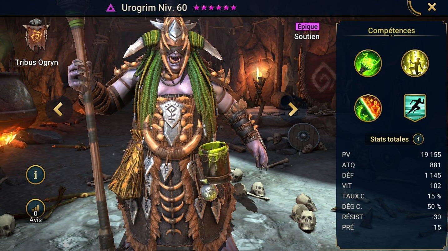 Guide maîtrises et artefact sur Urogrim